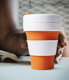 folding silicone coffee cup promotional product direct-222-256